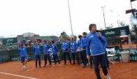 Uruguay agradeció en cancha al público y la organización