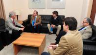 Tabaré Vázquez se reunió con las nuevas autoridades del SMU. Foto: Presidencia
