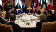 En Taormina, Sicilia, se reunieron los siete líderes de las democracias más fuertes. Foto: Reuters