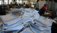La DGI detectó una red de venta y distribución de facturas irregulares. Foto: F. Ponzetto
