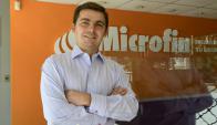 Antonio Martínez. Con su socio Andrés Colominas fundaron Microfin en 2008. Foto: Marcelo Bonjour.