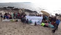 Movilización de la organización Océanos Sanos. Foto: Ricardo Figueredo