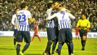 Luis Aguiar anotó el 2-0 para Alianza Lima.