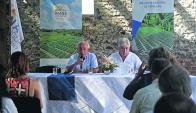 Queheille y Aguerre recibieron a los nuevos directivos. Foto: F. Ponzetto