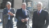 Diputados: Goñi, Trobo y Gonzalo Mujica llegando a la sede. Foto: Francisco Flores