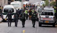 Explosión el la ciudad  de Bogota. Foto: EFE