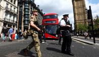 En Londres, un millar de soldados custodian los principales puntos de la capital. Foto: Reuters