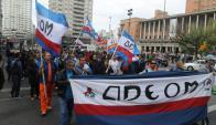 El sindicato sostiene que Martínez recorta personal pero contrata asesores. Foto: F. Flores