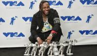 Kendrick Lamar, el gran ganador de la noche. Foto: AFP