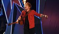 Ed Sheeran en vivo. Foto: AFP