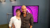 Jimmy junto a su hermana Yamila en Tv Show.