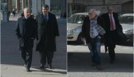 Juan Pedro Damiani y Ricardo Alarcón llegando al juzgado. Fotos: Francisco Flores