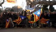 Movilizados: partidarios de la Independencia de Cataluña. Foto: Reuters