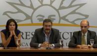 Verónica Alonso, Luis Gallo y Daniel Radío. Foto: Captura Presidencia.