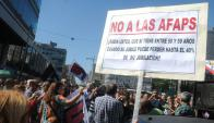 """""""Cincuentones"""" presentaron recursos de inconstitucionalidad contra la ley. Foto: A. Colmegna"""