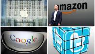 Gigantes tecnológicos en contra de medida de Trump. Fotos: AFP, Reuters y Pixabay