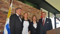 Ministro de Relaciones Exteriores Rodolfo Nin Nova, Patricia Damiani, Maha Khalifa, Embajador de Egipto Amr Abbas Abdelhadi.