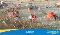 Selfie aérea. El servicio debutó en trabajos publicitarios y en eventos. (Foto: Gentileza Dronfies)