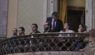 Palco: familiares de Atchugarry siguen la sesión de la Asamblea. Foto: F. Flores