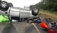 Siniestro: una familia murió ayer en la ruta 9. Foto: Willan Dialutto