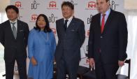 Jerarcas: Okoso, Kudo, Embajadora Keiko Tanaka y Daniel De Mattos. Foto: V. Rodríguez