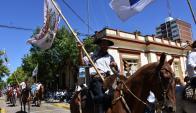 Unos 4500 jinetes invadieron ayer las calles de Tacuarembó. Foto: Intendencia de Tacuarembó