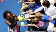 Serena Williams va por su séptima copa. Foto EFE