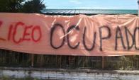 Liceo N°1 de Solymar. ocupado. Foto: Fenapes.