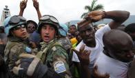 Los efectivos uruguayos han venido cumpliendo con tareas de patrullaje. Foto. AFP