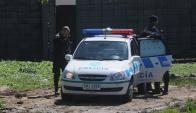 Operativo policial en el Cerro. Foto: Francisco Flores