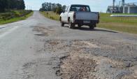 Los vecinos reclaman por el mal estado de las rutas. Foto: Daniel Rojas