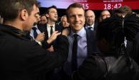 Emmanuel Macron puede convertirse en el presidente más joven de la historia de Francia. Foto: AFP.