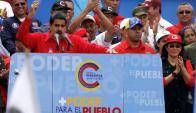 Maduro acusó a la MUD de promover la violencia durante la ola de protestas. Foto: EFE