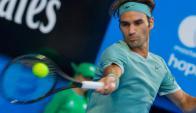 Roger Federer volvió a las canchas tras seis meses en la Copa Hopman. Foto: AFP