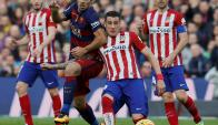 Cara a cara. Suárez y Giménez se volverán a enfrentar. Foto: Reuters