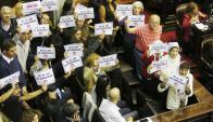 """Ayer el Congreso argentino debatía qué hacer con la ley del """"2 x 1"""" a dos represores. Foto: La Nación / GDA"""