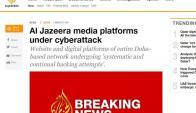 La cadena Al Jazeera denunció un hackeo. Foto: Captura.