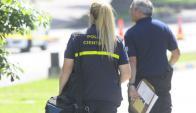 El cuerpo del efectivo no presentaba signos de golpes, constató Policía Científica. Foto: D. Borrelli