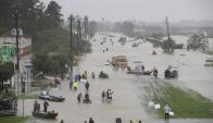 Houston: La ciudad de 2,5: de habitantes prepara refugios para 30.000 evacuados. Foto: AFP