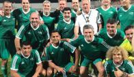 Cafú, Maradona, Valderrama y Balbi en un un picado entre leyendas y dirigentes de FIFA