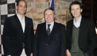 Gilberto Echeverry, Embajador de Francia, Philippe Bastelica y Sergio Goloubintseff.