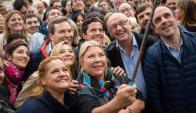 Carrió, conocida por su lucha contra la corrupción política, apoya a Macri. Foto: @elisacarrio