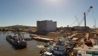 La construcción de la planta se encuentra paralizada desde febrero de 2015. Foto: Gas Sayago