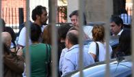 Máximo, hijo mayor de Néstor y Cristina, llegando ayer a declarar por la causa de Los Sauces. Foto: EFE