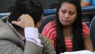 La joven Evelyn Hernández fue condenada a 30 años de prisión. Foto: El Mundo.