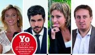 Mariana Dárdano, Andrés Ojeda, Georgina Mayo y Fabián Cardozo.
