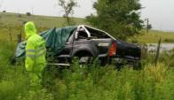 La camioneta en que viajaba la cantante despistó en ruta 5. Foto: El Telégrafo