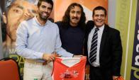 Lanzamiento. Pablo Gardiol, Pablo Vigil y Lionel De Mello. Foto: Darwin Borrelli