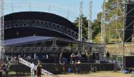 Escenario: el Parque de la Hispanidad está casi pronto. Foto: Víctor Rodríguez