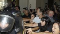 Corte: en 2013, manifestantes trataron de impedir juramentos. Foto: Archivo El País